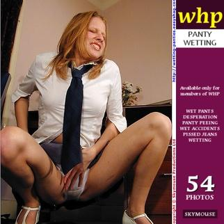 Student Traci wets her white panties under her short school skirt