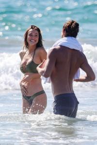 Alexis Ren - Bikini candids in Santa Monica 9/29/18