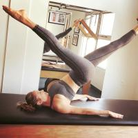 Stacy Keibler - Doing Pilates Pic