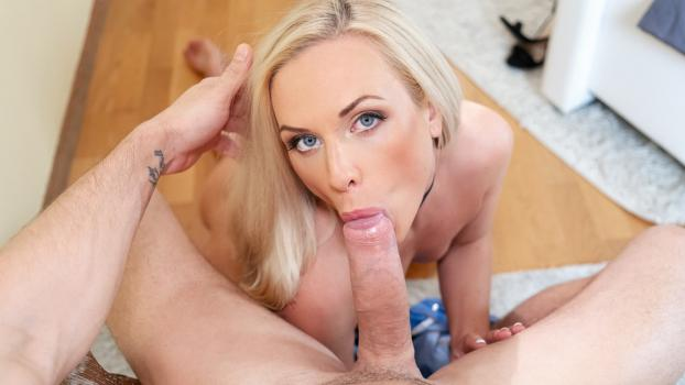 Blonde anal doggy style