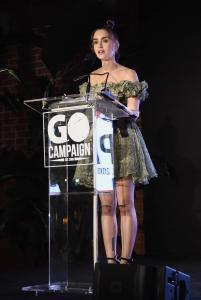 Lily Collins - GO Campaign Gala in LA 10/20/18  36rvm453fk.jpg